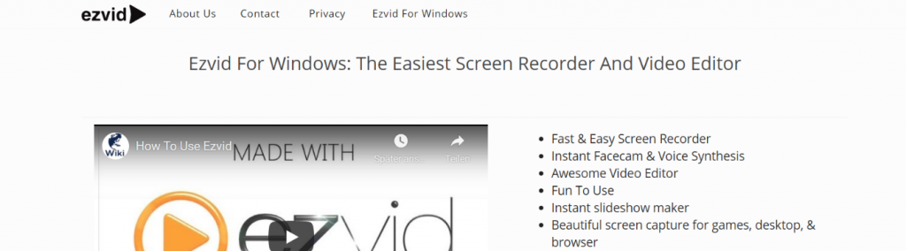 Ezvid: Video presentation software