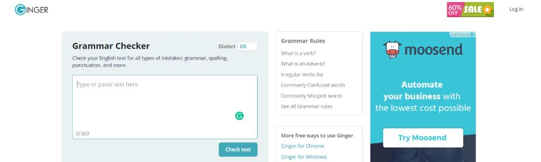 Ginger: Grammarly Alternative and Competitor