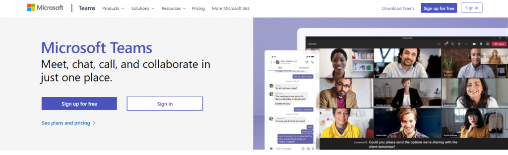 Microsoft teams: Online meeting app and software