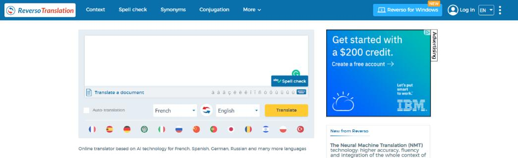 Reverso: Grammarly Alternative and Competitor