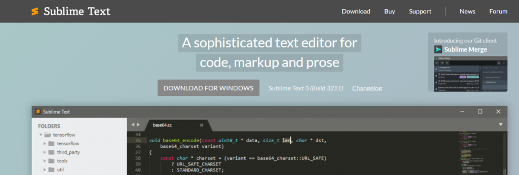 Sublime text: Text editor