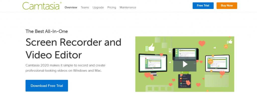 Camtasia: Video presentation software