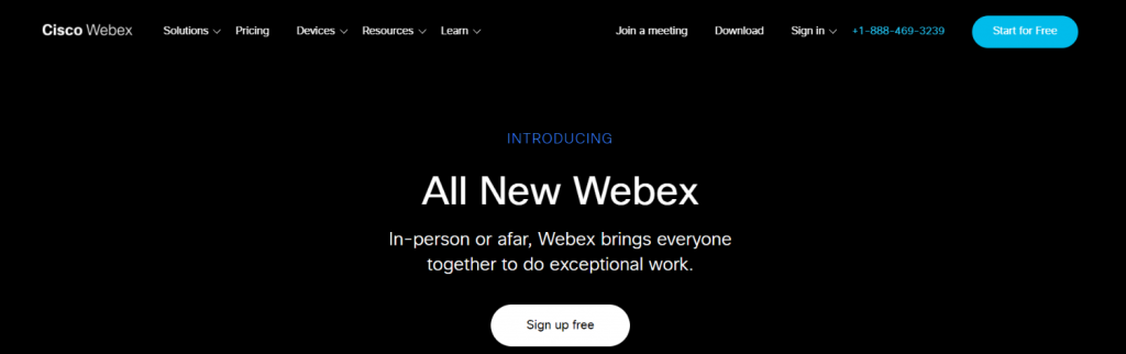 Webex: Online meeting app and software