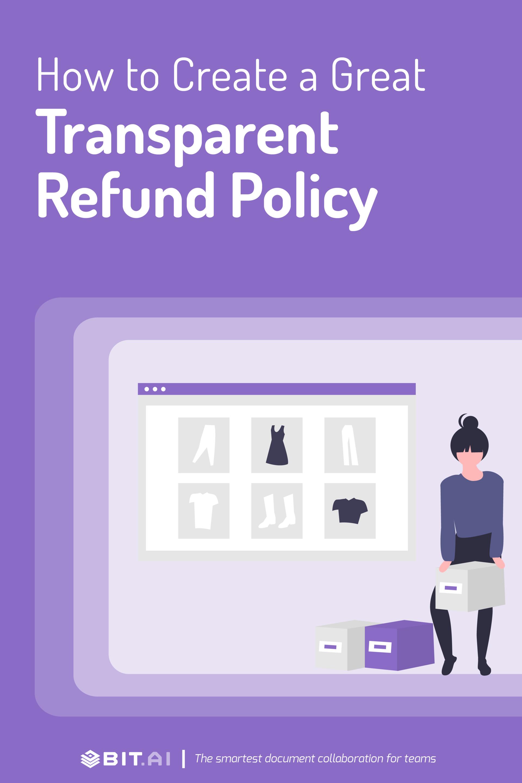 Refund policy - pinterest
