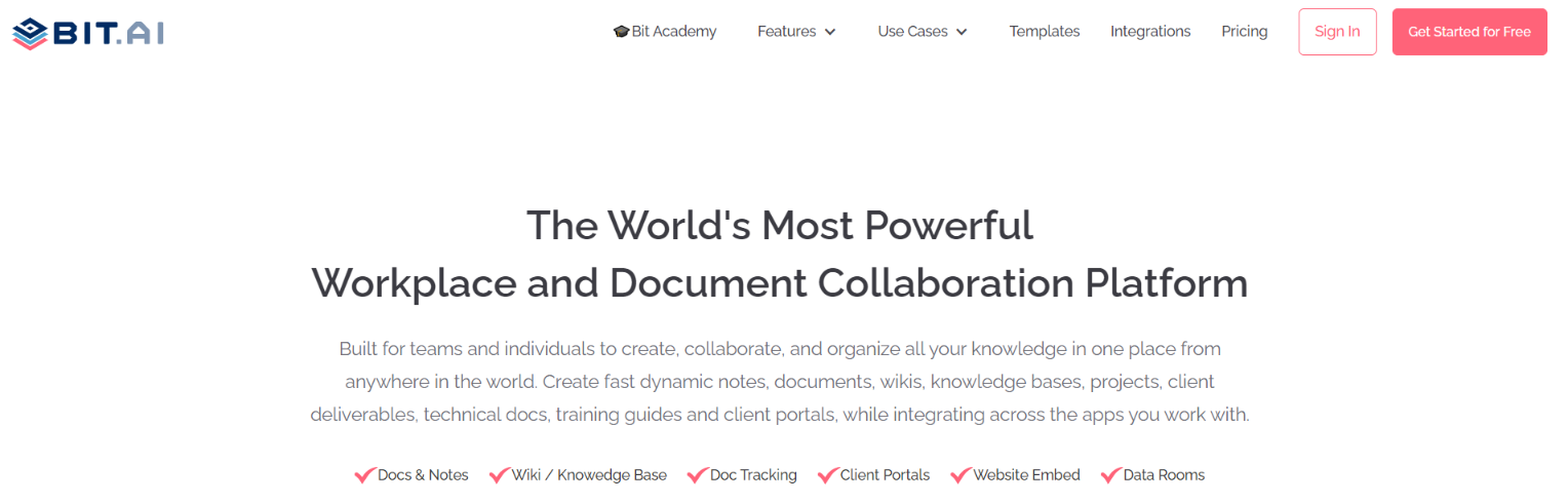 Bit.ai: tool for collaboration