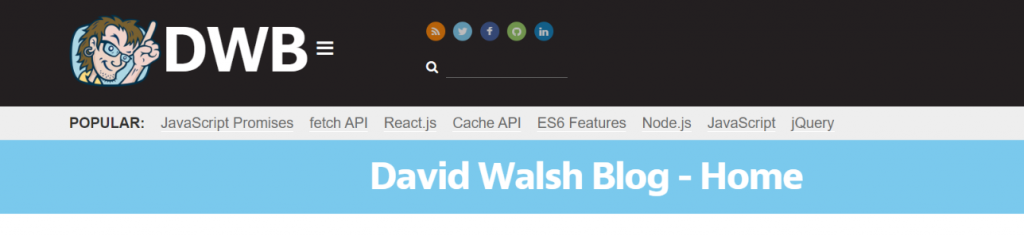 David Walsh: Resources to Learn Programming