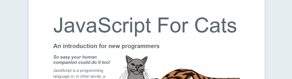 JavaScript For Cats: Resources to Learn Programming