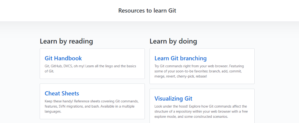Try Git: Resources to Learn Programming