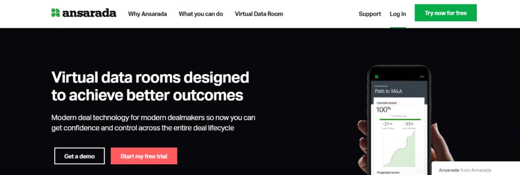 Anasrada: Virtual data room providers