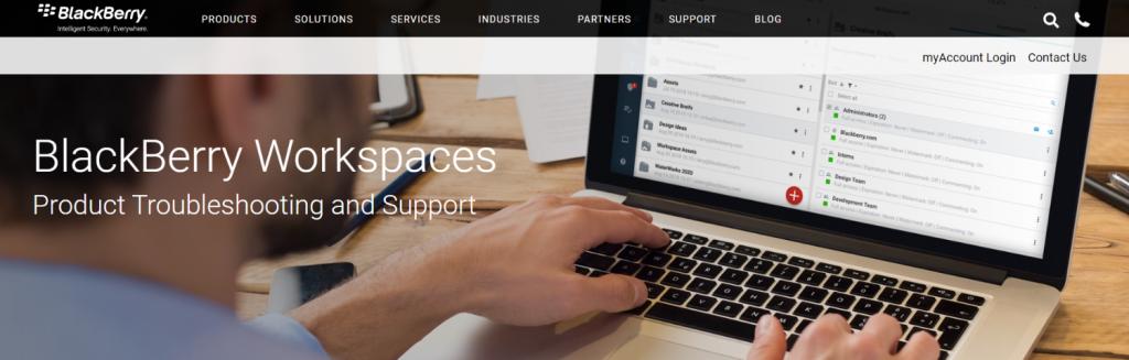 Blackberry workspaces: Virtual data room providers