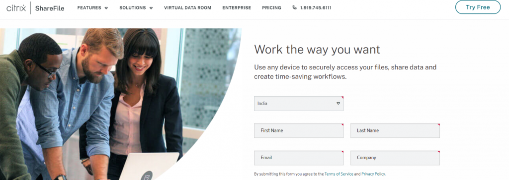 Citrix Sharefile: Virtual data room providers