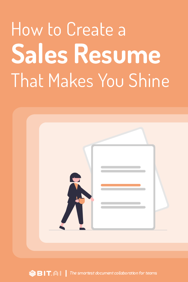 Sales resume - Pinterest