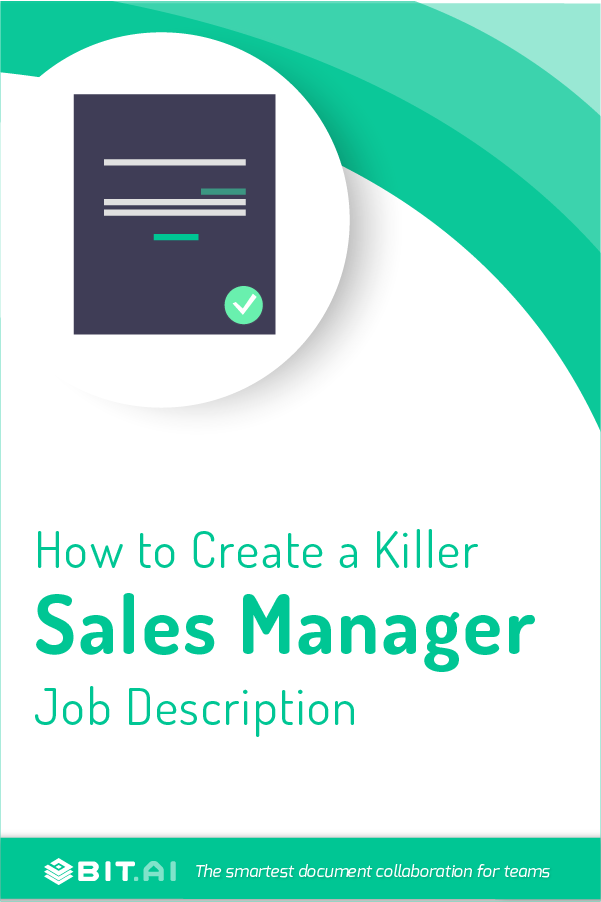 Sales manager job description - Pinterest
