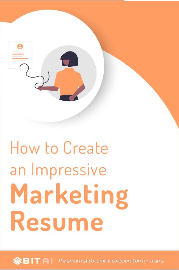 Marketing resume - Pinterest