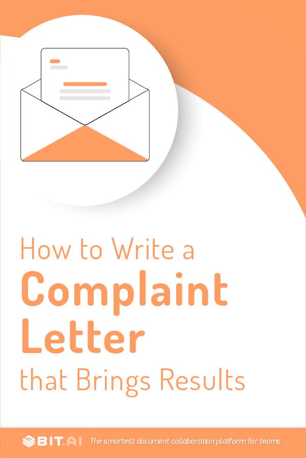 Complaint letter - Pinterest