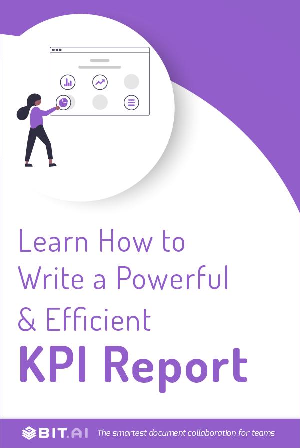 KPI report - Pinterest