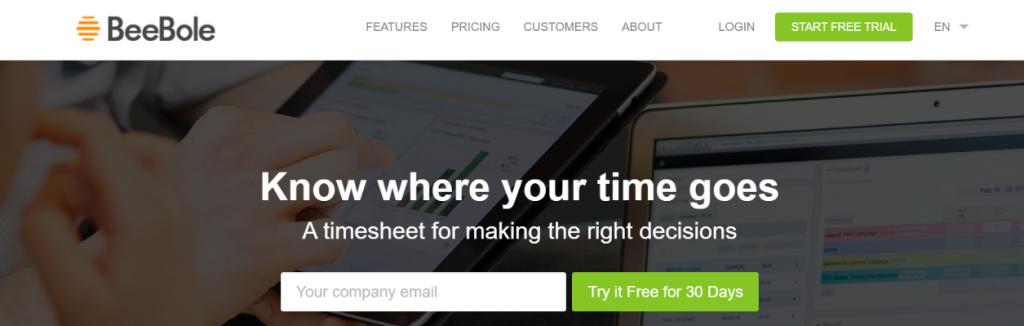 Beebole: Timesheet Software & Tool
