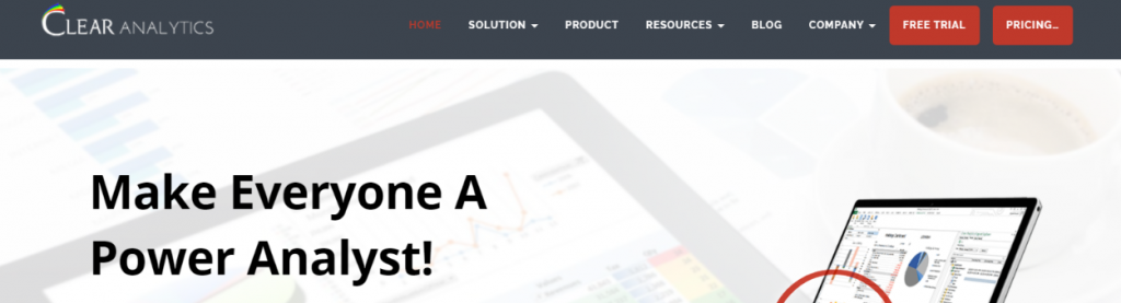 Clear analytics: Business intelligence tools & Software
