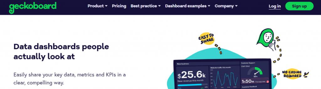 Geckoboard: KPI dashboard tools and software