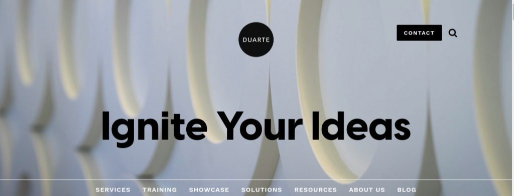 Duarte: Presentation blog and website