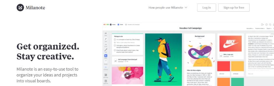 Milanote: Mind mapping software and tool
