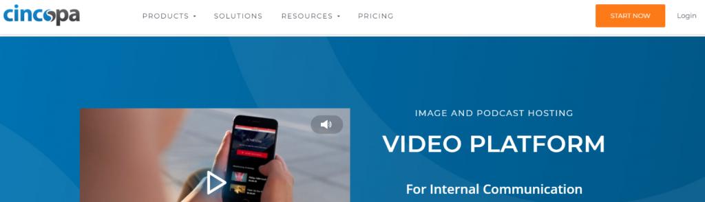 Cincopa: Video hosting site