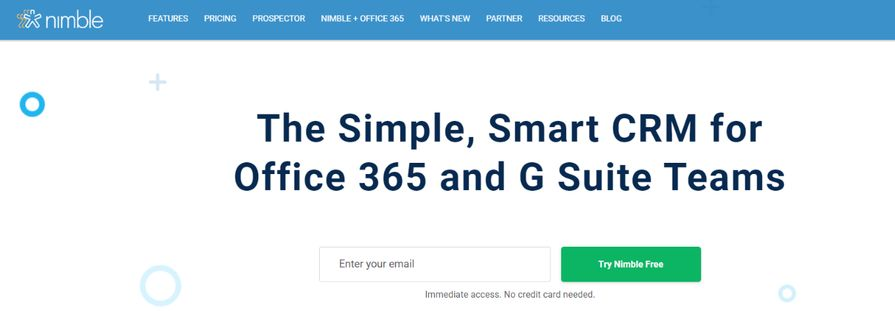 Nimble: CRM tool and software