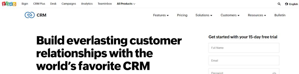 Zoho CRM: CRM tool and software
