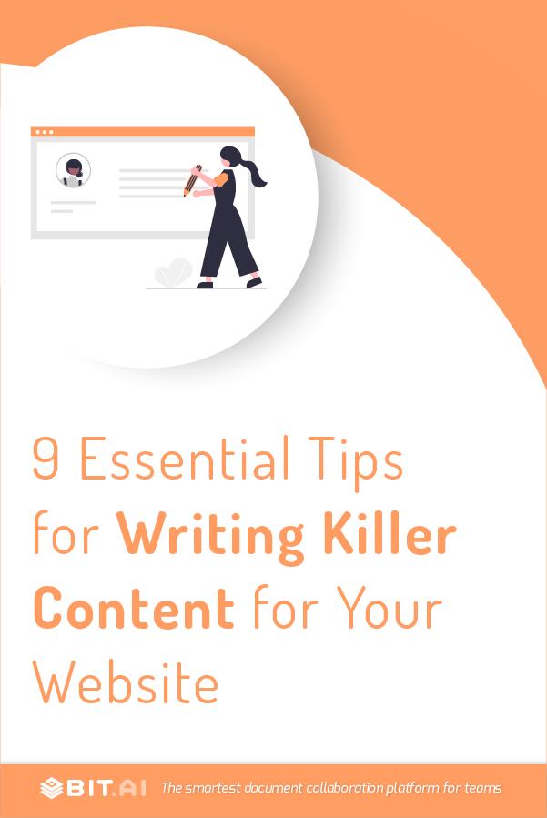 Content writing - pinterest