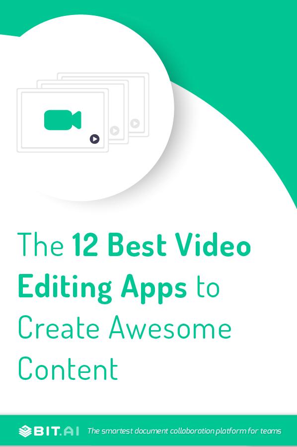 Video editing apps - pinterest