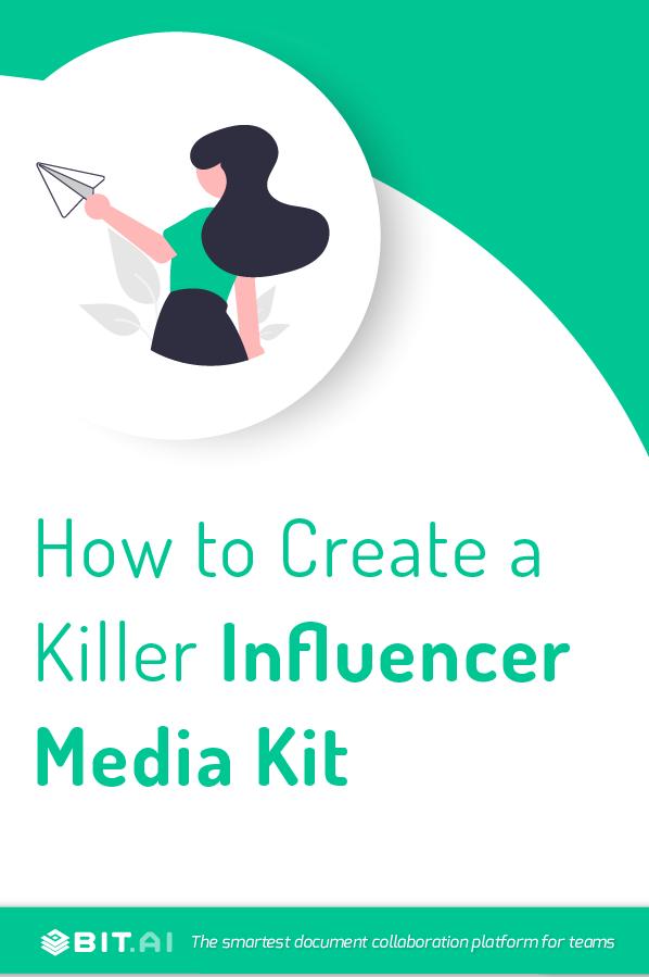 Influencer media kit - Pinterest