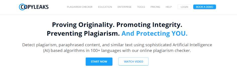 Copyleaks: Plagiarism checker