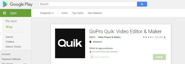 Quik: Video editing app