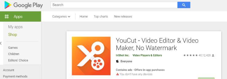 Youcut: Video editing app