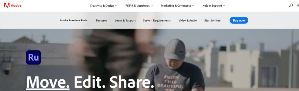Adobe Premiere Rush: Video editing app