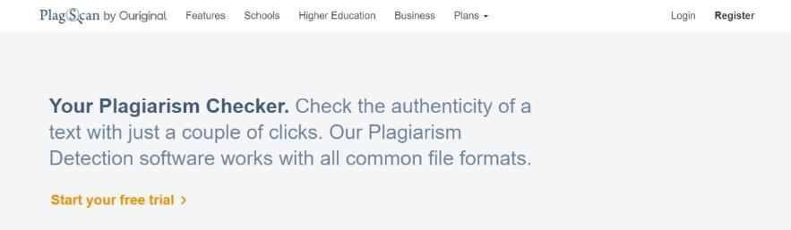 Plagscan: Plagiarism checker
