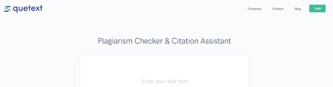 Quetext: Plagiarism checker