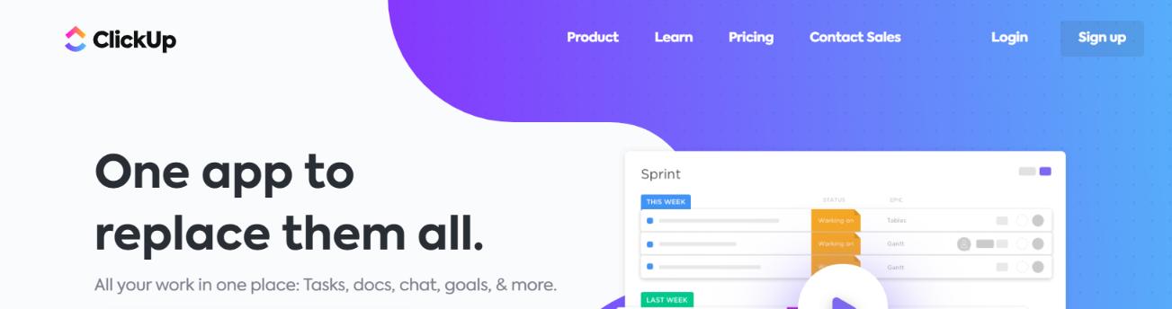 Clickup: Smartsheet alternative and competitor