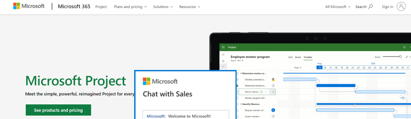 Microsoft project: Smartsheet alternative and competitor