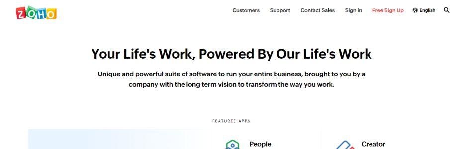 Zoho: Client Management Software