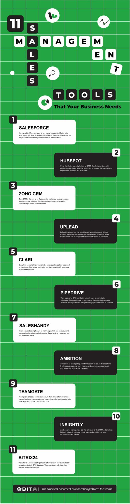 Sales management tools infographic