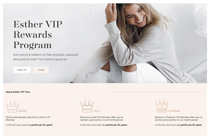 A company offering special loyalty program to it's customers