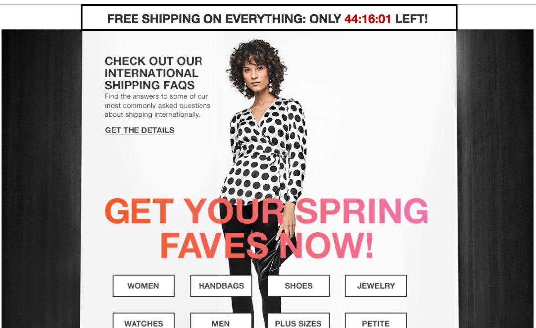 A company offering free shipping to customers