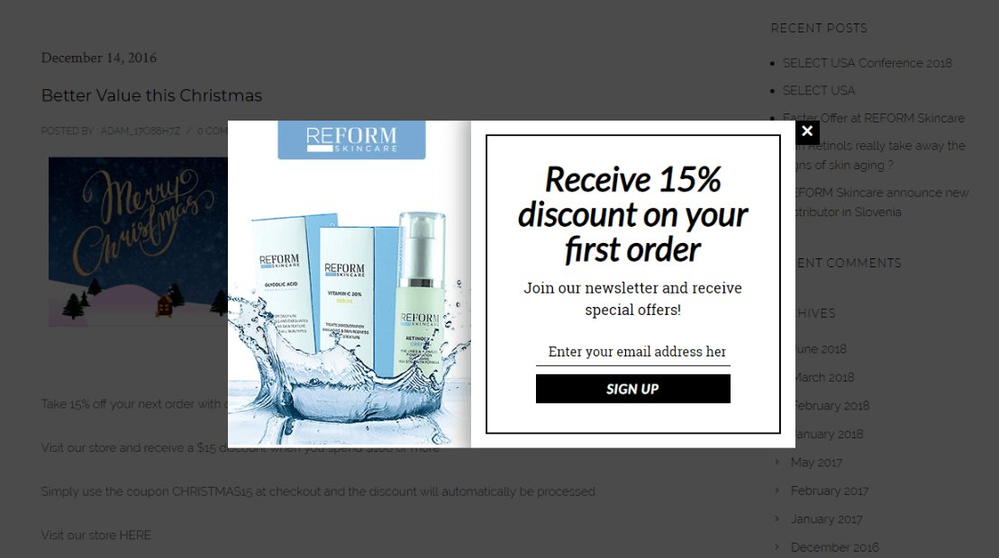 First order discount sales promotion