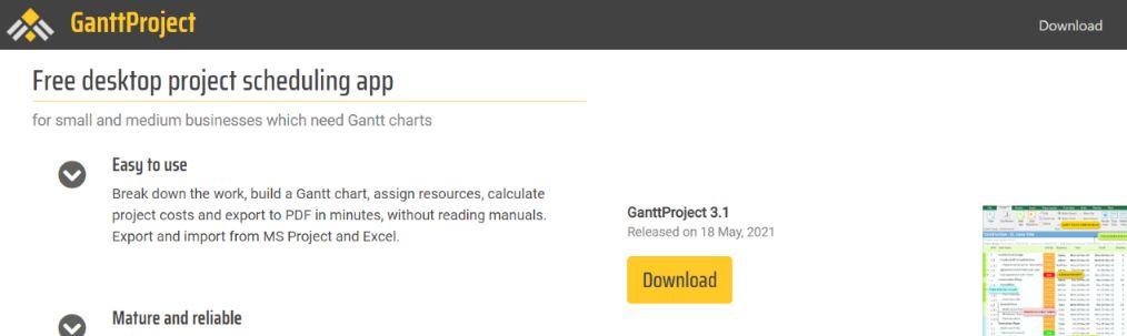 Ganttproject: Gantt Chart Software