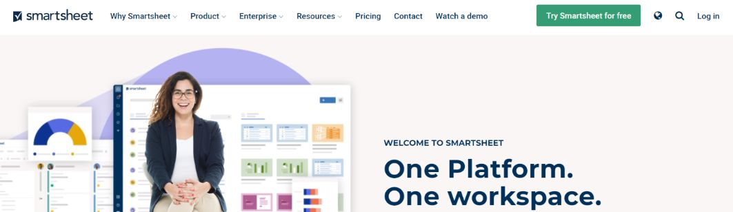 Smartsheet: Dashboard software