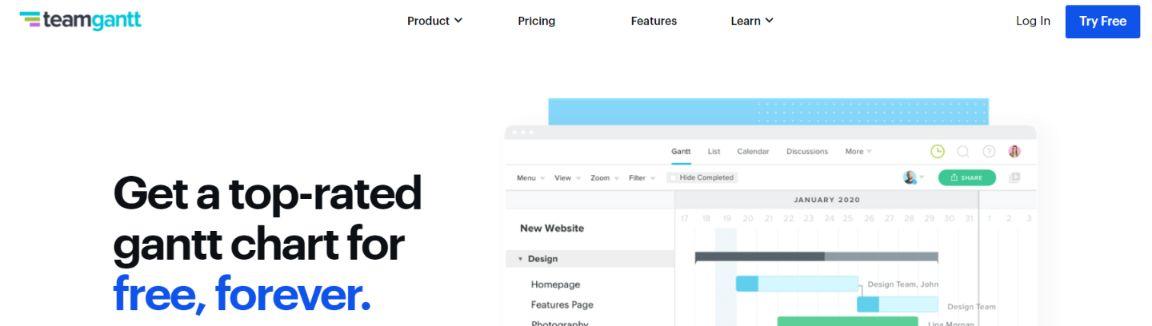 Teamgantt: Gantt Chart Software