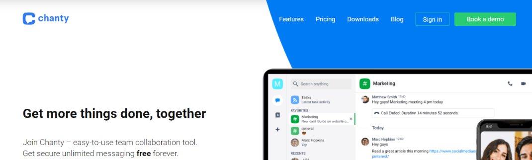 Chanty: Team communication tools